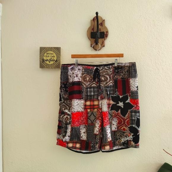Billabong 💙 Board Swim Shorts Trunks Batik Boho